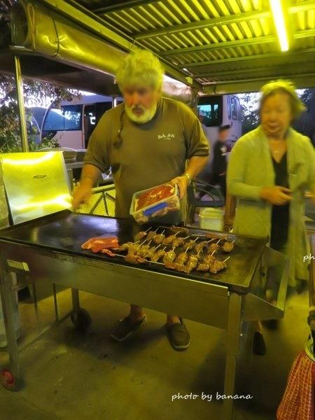 ケアンズ ジェイさんの動物探検ツアー BBQ 夕食メニュー